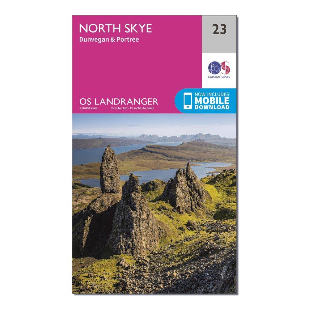 Image of Ordnance Survey Landranger 23 North Skye, Dunvegan & Portree Map With Digital Version - D/D, D/D