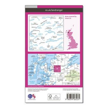 Orange Ordnance Survey Landranger 25 Glen Carron & Glen Affric Map With Digital Version