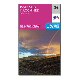 Landranger 26 Inverness & Loch Ness, Strathglass Map With Digital Version
