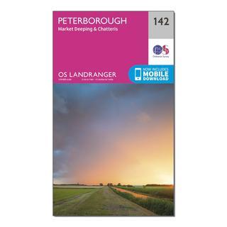 Landranger 142 Peterborough, Market Deeping & Chatteris Map With Digital Version