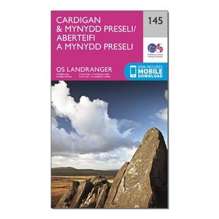 Landranger 145 Cardigan & Mynydd Preseli Map With Digital Version