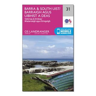 Landranger 31 Barra & South Uist, Vatersay & Eriskay Map With Digital Version