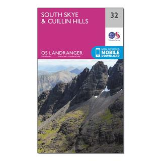Landranger 32 South Skye & Cuillin Hills Map With Digital Version