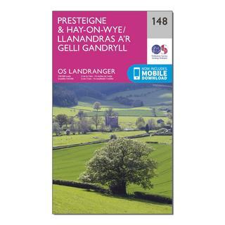 Landranger 148 Presteigne & Hay-on-Wye / Llanandras a'r Gelli Gandryll Map With Digital Version