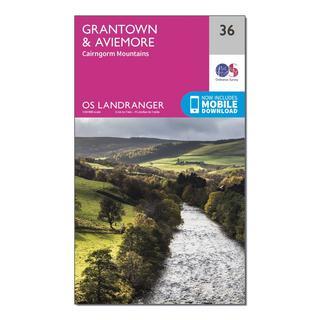 Landranger 36 Grantown, Aviemore & Cairngorm Mountains Map With Digital Version
