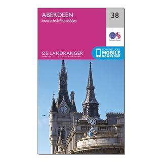 Landranger 38 Aberdeen, Inverurie & Pitmedden Map With Digital Version