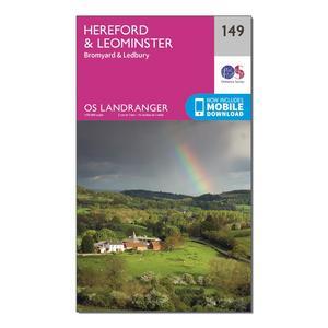 ORDNANCE SURVEY Landranger 149 Hereford & Leominster, Bromyard & Ledbury Map With Digital Version