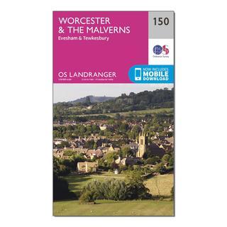 Landranger 150 Worcester & The Malverns, Evesham & Tewkesbury Map With Digital Version