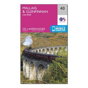 ORDNANCE SURVEY Landranger 40 Mallaig & Glenfinnan, Loch Shiel Map With Digital Version
