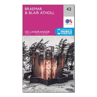 Landranger 43 Braemar & Blair Atholl Map With Digital Version