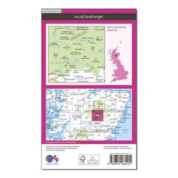 Orange Ordnance Survey Landranger 43 Braemar & Blair Atholl Map With Digital Version