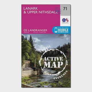 Landranger Active 71 Lanark & Upper Nithsdale Map With Digital Version