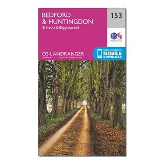 Landranger 153 Bedford, Huntingdon, St Neots & Biggleswade Map With Digital Version
