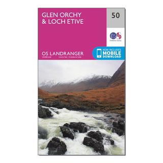 Landranger 50 Glen Orchy & Loch Etive Map With Digital Version
