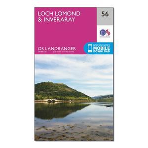 ORDNANCE SURVEY Landranger 56 Loch Lomond & Inveraray Map With Digital Version