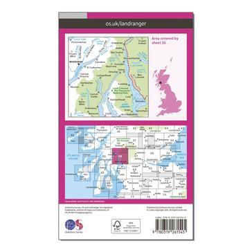 Orange Ordnance Survey Landranger 56 Loch Lomond & Inveraray Map With Digital Version