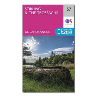 Landranger 57 Stirling & The Trossachs Map With Digital Version