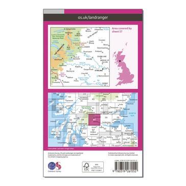 Orange Ordnance Survey Landranger 57 Stirling & The Trossachs Map With Digital Version
