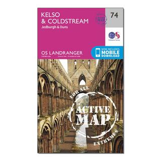 Landranger Active 74 Kelso & Coldstream, Jedburgh & Duns Map With Digital Version
