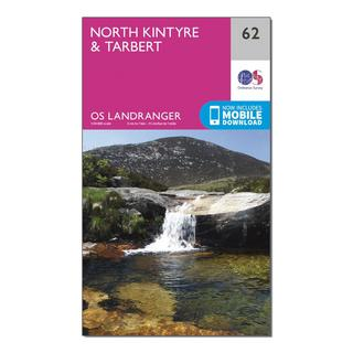 Landranger 62 North Kintyre & Tarbert Map With Digital Version