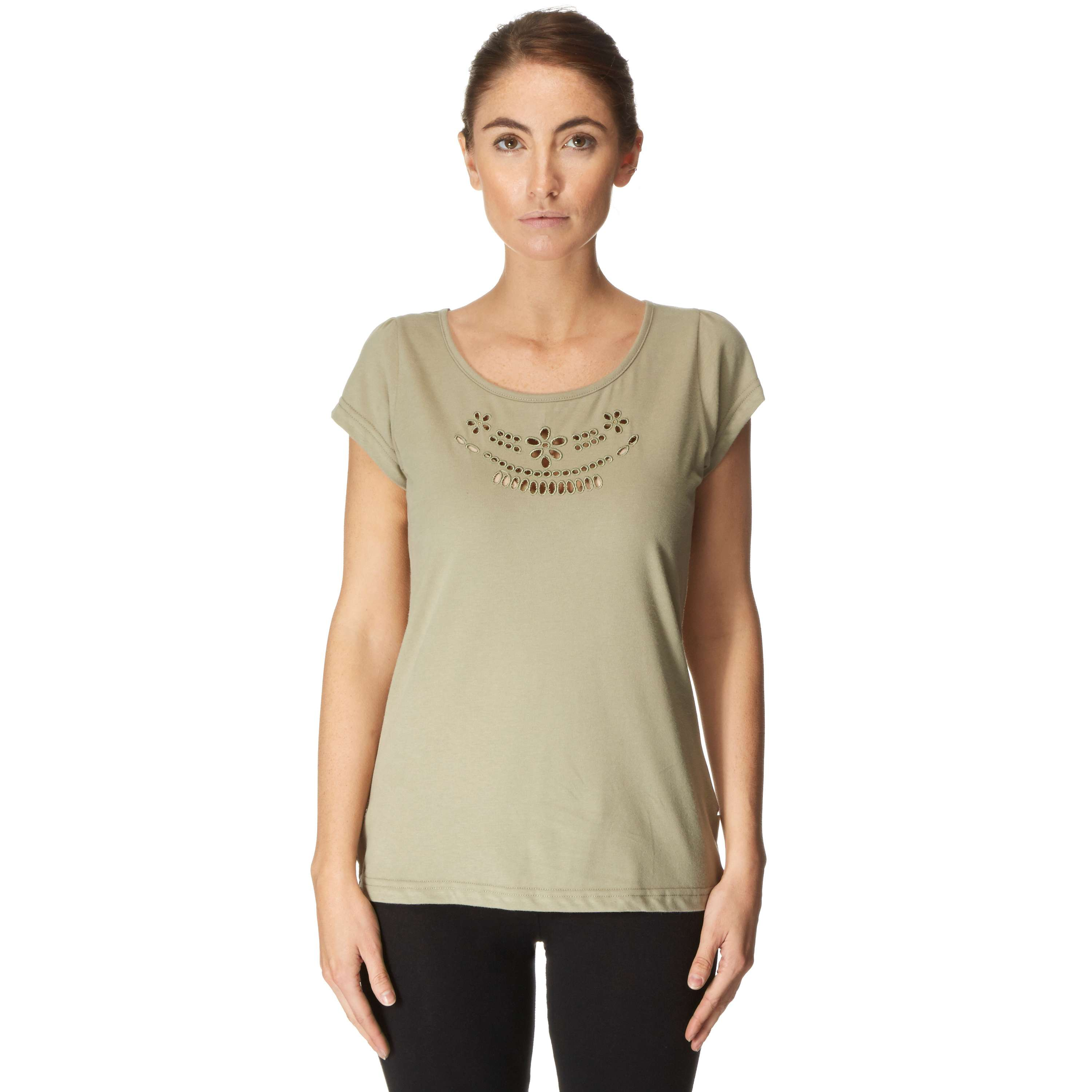 ONE EARTH Women's Cut-Out T-Shirt