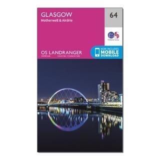 Landranger 64 Glasgow, Motherwell & Airdrie Map With Digital Version