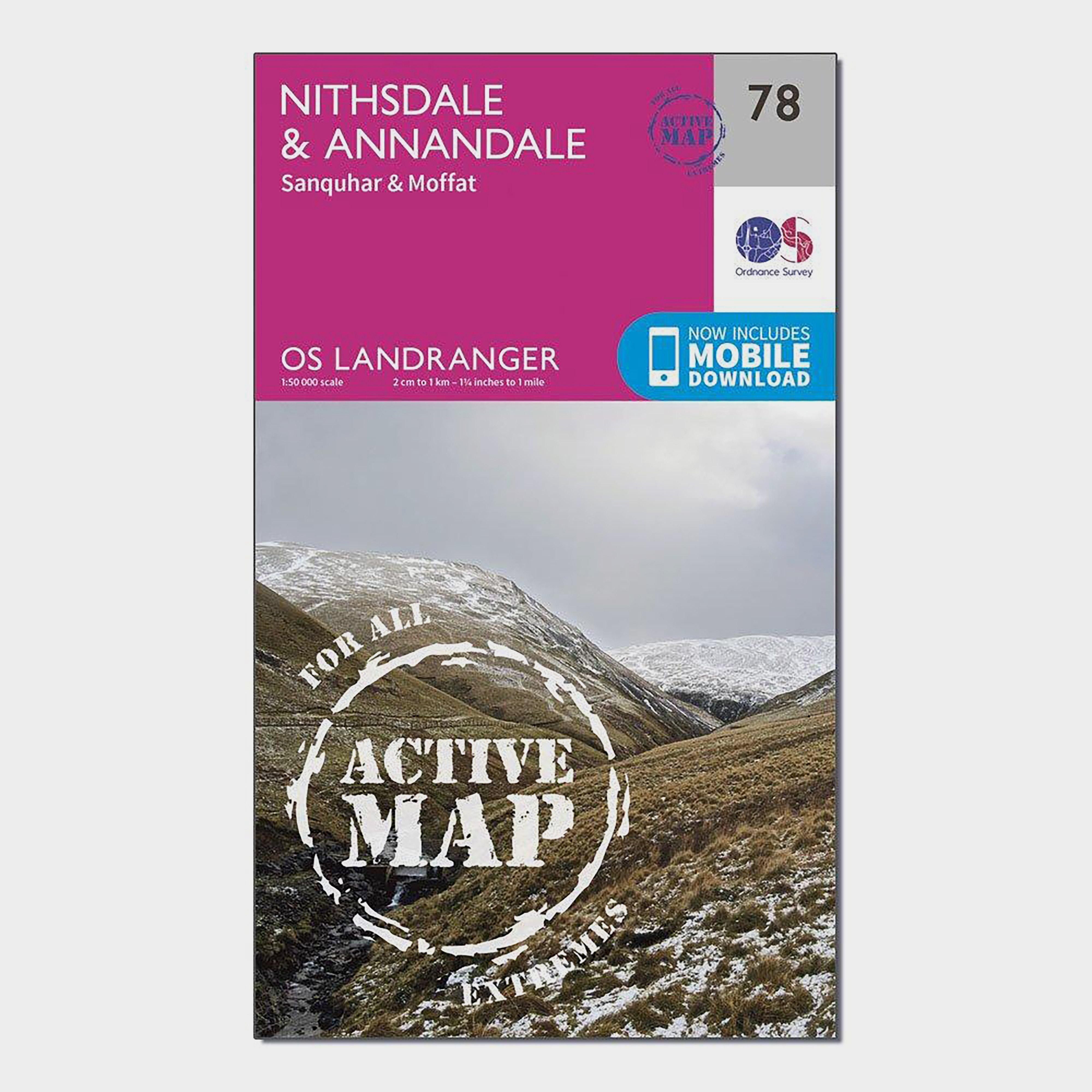 Ordnance Survey Ordnance Survey Landranger Active 78 Nithsdale & Annandale, Sanquhar & Moffat Map With Digital Version - Orange, Orange