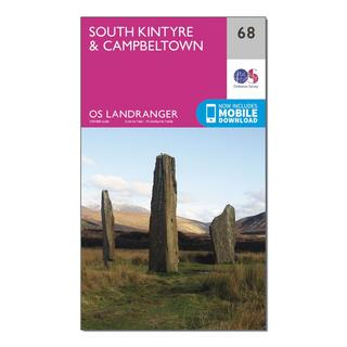 Landranger 68 South Kintyre & Campbeltown Map With Digital Version