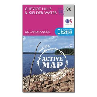 Landranger Active 80 Cheviot Hills & Kielder Water Map With Digital Version