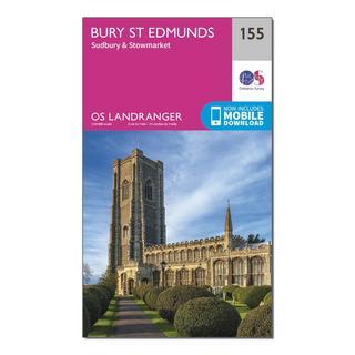 Landranger 155 Bury St Edmunds, Sudbury & Stowmarket Map With Digital Version