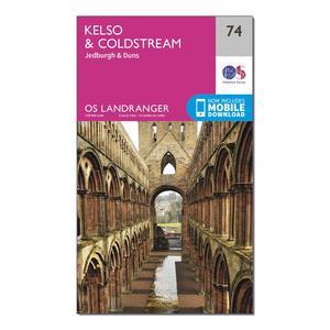 ORDNANCE SURVEY Landranger 74 Kelso & Coldstream, Jedburgh & Duns Map With Digital Version