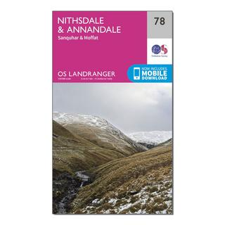 Landranger 78 Nithsdale & Annandale, Sanquhar & Moffat Map With Digital Version
