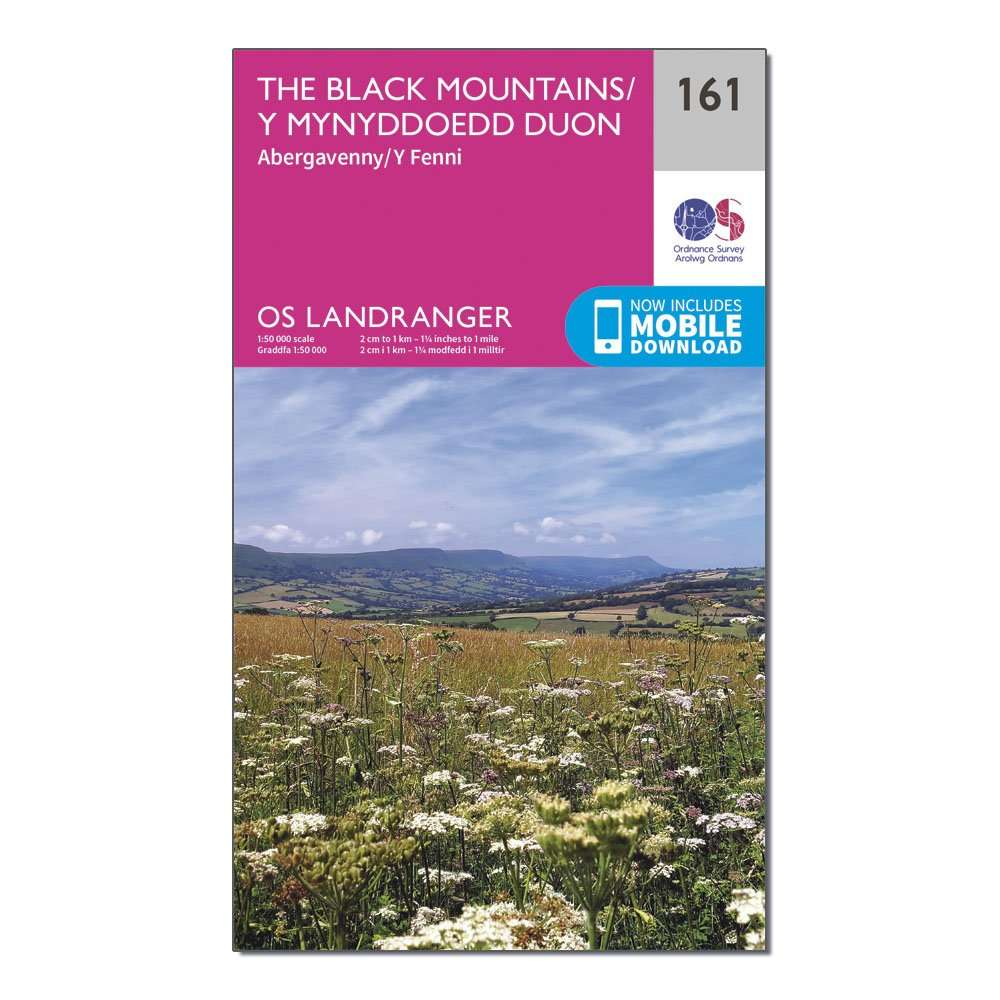ORDNANCE SURVEY Landranger 161 The Black Mountains Map With Digital Version