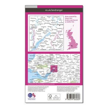 Orange Ordnance Survey Landranger 162 Gloucester & Forest of Dean Map With Digital Version