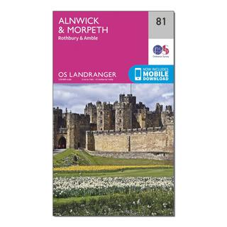 Landranger 81 Alnwick & Morpeth, Rothbury & Amble Map With Digital Version