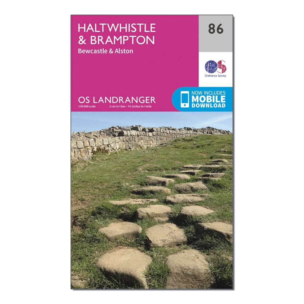 ORDNANCE SURVEY Landranger 86 Haltwhistle & Brampton, Bewcastle & Alston Map With Digital Version