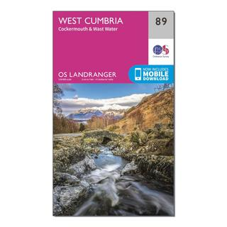 Landranger 89 West Cumbria, Cockermouth & Wast Water Map With Digital Version