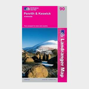 ORDNANCE SURVEY Landranger 90 Penrith & Keswick, Ambleside Map With Digital Version