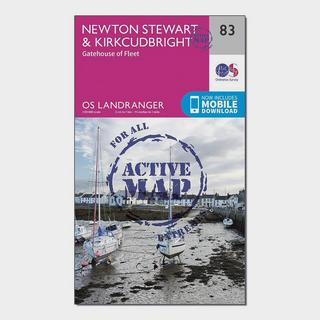 Landranger Active 83 Newton Stewart & Kirkcudbright, Gatehouse of Fleet Map With Digital Version