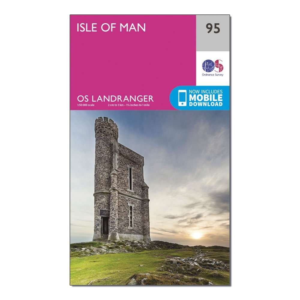 ORDNANCE SURVEY Landranger 95 Isle of Man Map With Digital Version