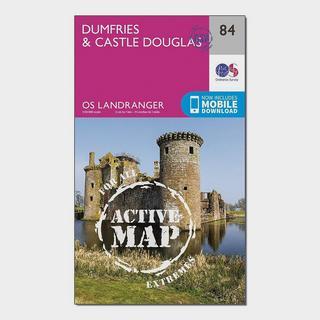 Landranger Active 84 Dumfries & Castle Douglas Map With Digital Version