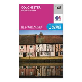 Landranger 168 Colchester, Halstead & Maldon Map With Digital Version