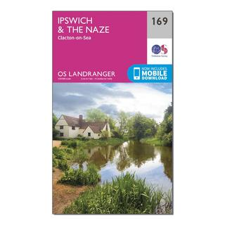Landranger 169 Ipswich, The Naze & Clacton-on-Sea Map With Digital Version