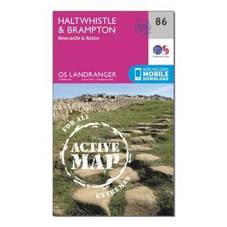 Landranger Active 86 Haltwhistle & Brampton, Bewcastle & Alston Map With Digital Version