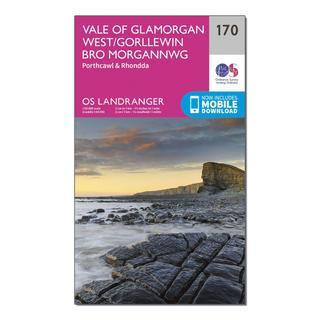 Landranger 170 Vale of Glamorgan, Rhondda & Porthcawl Map With Digital Version