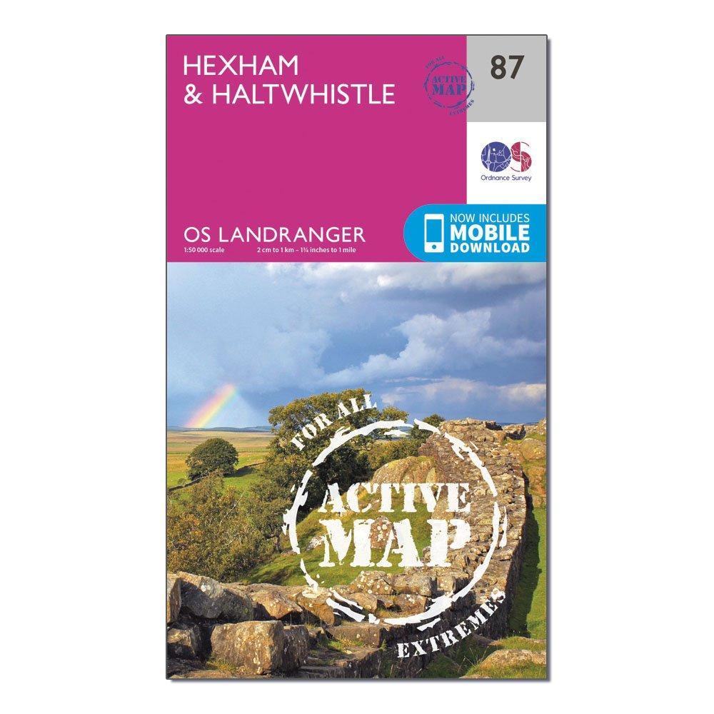 Ordnance Survey Ordnance Survey Landranger Active 87 Hexham & Haltwhistle Map With Digital Version - Orange, Orange