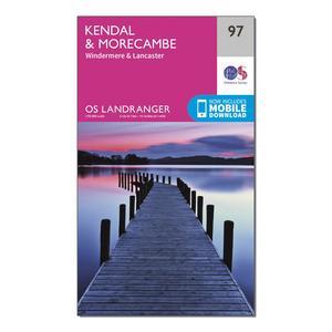 ORDNANCE SURVEY Landranger 97 Kendal, Morecambe, Windermere & Lancaster Map With Digital Version