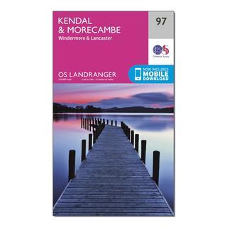Landranger 97 Kendal, Morecambe, Windermere & Lancaster Map With Digital Version