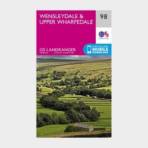 ORDNANCE SURVEY Landranger 98 Wensleydale & Upper Wharfedale Map With Digital Version