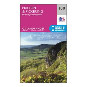 ORDNANCE SURVEY Landranger 100 Malton & Pickering, Helmsley & Easingwold Map With Digital Version